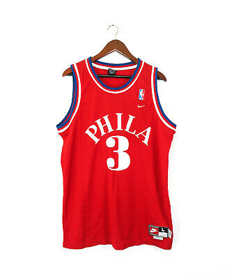 8a4094068e3 Vintage Rare Phila 76ers Allen Iverson Sixers Jersey  3 NIKE Basketball  Size L