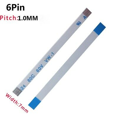 Pitch 1.0mm 6-Pin FFC/FPC Flexible Flat Cable 80C 60V VW-1 W:7mm L:50mm-3000mm