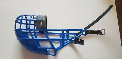 Muzzle Don Pare 101 for dogs with a narrow head Greyhound Lurcher Racing Blue