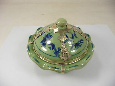 old china decorated porcelain collectable bowl armored dragon Phoenix