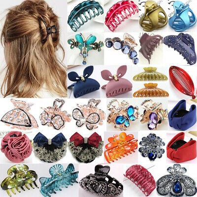 Women Large Hair Claw Clamps Small Hair Clip Butterfly Claws Hair Accessories UK