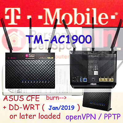 T-MOBILE TM-AC1900 👉 Asus RT-AC68U Dual Router Kodi VPN Tor TV-Box  +DD-WRT@2019