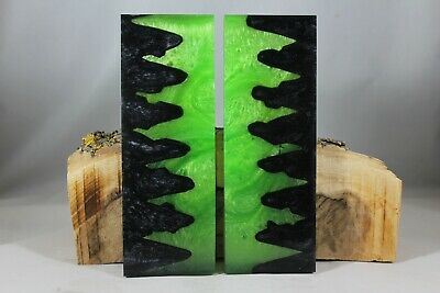 Lime Green Black Pearl Custom Composite Knife Handle Material Blank Scales (207)