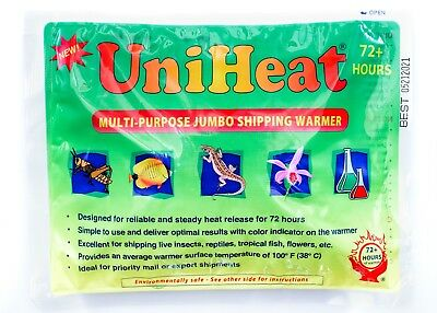 40 hours Heat Pack Reptiles Snakes Lizards Uniheat Pet Shipping Warmer