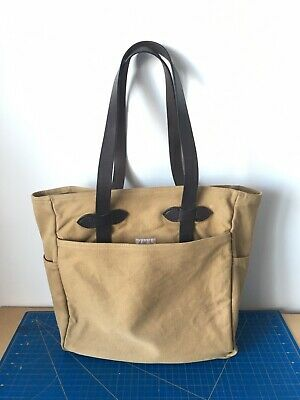 RALPH LAUREN RRL Distressed Washed Canvas Leather Tote Bag New ... 07eaaf32438df