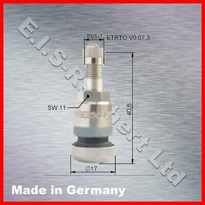 Alligator 512573 PKW-Metallventil 40MS SW11 ASC HT Transporterventil Metal valve