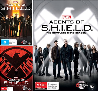 Agents of Shield S.H.I.E.L.D. Seasons 1-3 : NEW DVD