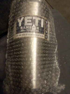 Yeti Rambler 20oz Tumbler Stainless Steel Insulated Cup W Lid Hot Cold Beverages