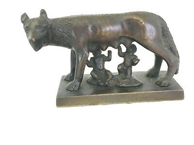 Bronze Romulus and Remus suckling from the She Wolf ROME Grand Tour Collectable