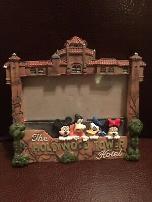"""Disney's """"the Hollywood Tower Hotel"""" (Tower Of Terror) 5"""" X 7"""" 3D Picture Frame!"""