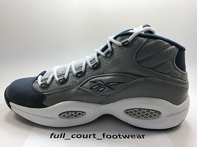 2aa1bcac35a REEBOK QUESTION GEORGETOWN Iverson Mens Size 11 Gray Blue -  54.95 ...
