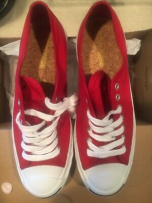 459f65b9fe0 Converse JACK PURCELL Jack OX Days Ahead Red Men s Shoes 9 Rare Cork  Insoles NIB