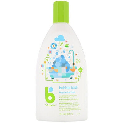 BabyGanics, Bubble Bath, Fragrance Free, 20 fl oz (591 ml)