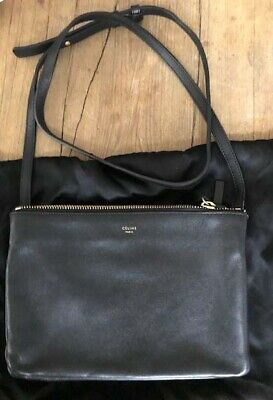 31ea10ba8be0 Authentic Celine Trio bag small black. purchased at Paris Celine Store.  like new
