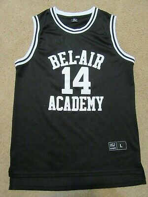 Bel-Air Academy Will Smith Fresh Prince Basketball Jersey 14 Black Large OGJ