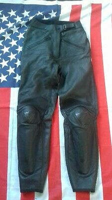 Dainese black motorcycle biker leather  trousers  waist 28