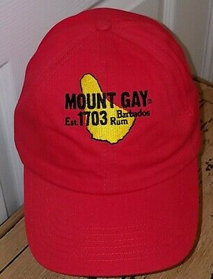 MOUNT GAY RUM Barbados Est 1703 Red Sailing Cap Blank No Race NWOT ... 7a7a40e5a255