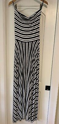 039760b26f NWT NORDSTROM S FELICITY   Coco Maxi Strapless Blk Wht Striped Dress ...