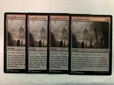 4x Crumble to Dust NM-Mint English Battle for Zendikar MTG Magic