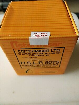 Cistermiser HSLP 6075 High Sensitive Low Pressure Valve