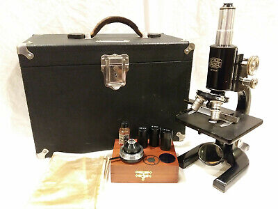 Vintage Spencer Buffalo Microscope #137925 w/Case & Accessories