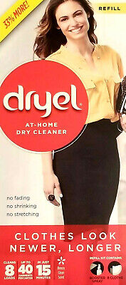 dryel At-Home Dry Cleaner Refill Cleans 8 Loads Up To 40 Garments