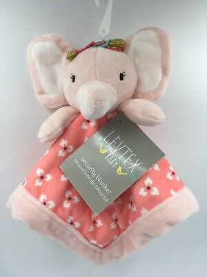 Baby Girls Security Blanket with Pink Elephant Gift Shower Allergy Friendly B13