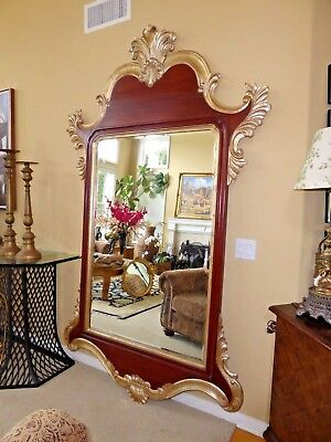 """Harrison Gil - Christopher Guy Carved Wood Gold Gilt 95"""" Luxury Wall Mirror"""
