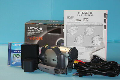 HITACHI DZ-BX35E DVD video camera/recoder, fully working, all accessories