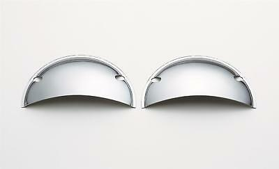 """Mr. Gasket Headlight Half Shield Covers Chrome 5-3/4"""" Round Sold In Pair # 9650"""