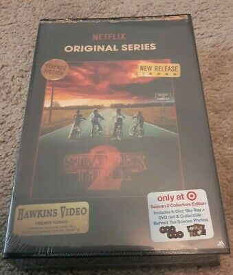 Stranger Things Season 2 Blu-ray and DVD VHS packaging collectors edition New