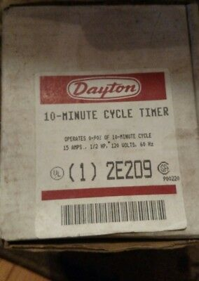 Dayton 2E209 10 Minute Cycle Timer New In Box-NOS-