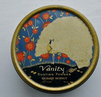 Art Deco Richard Hudnut Vanity Dusting Powder Tin 1940's