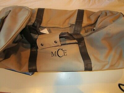 Pottery Barn Black Colby  rolling duffel bag monogrammed MCE New with tag