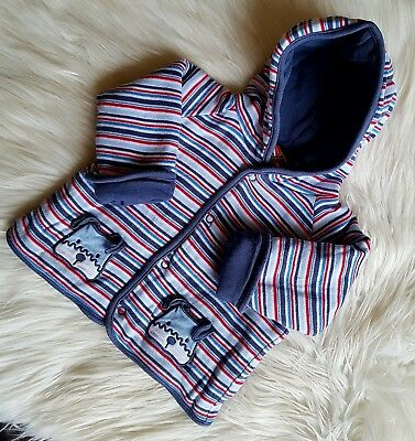 SPROUT - Size 00 striped thick winter jacket