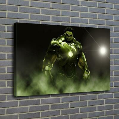 "12""x18"" Iron Hulk Poster HD Canvas prints Paint Home decor Room Wall art Picture"
