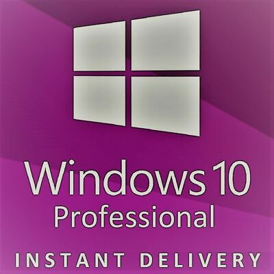 Windows 10 Professional Pro Key 32 / 64 Bit Genuine Activation Code License Key