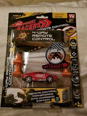 RC Pocket Racers Remote Control Race Car w/Cones Lights AS SEEN ON TV NEW FRSH