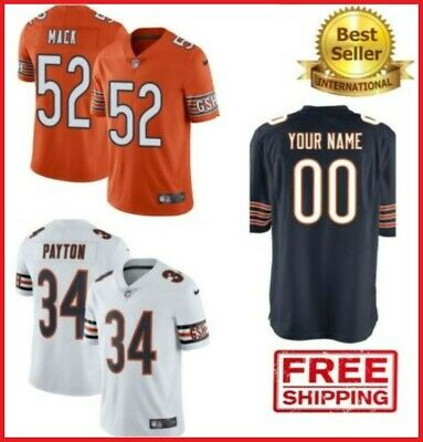 online store 6bbb9 e62e5 NEW CHICAGO BEARS Jersey #52 Khalil Mack 34 Walter Payton 58 Roquan Smith  🔥 HOT