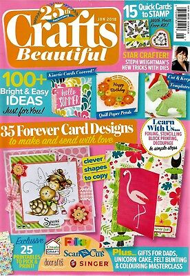 Crafts Beautiful  Magazine Issue 319   June  2018.    Free Garden Days Stamps