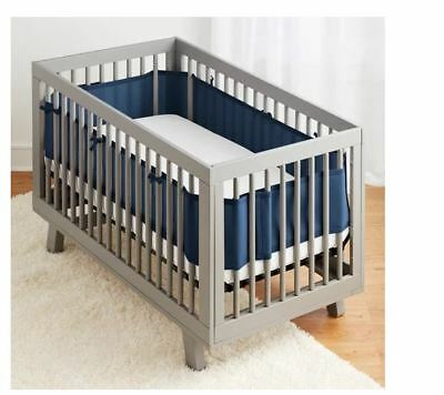 BreathableBaby Solid Mesh Crib Liner Panel Baby Breathable Bedding NEW Blue