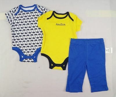 Nautica Baby Boys'2 pack Bodysuits and Pant Set sizes 3/6, 6/9 months