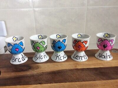 Personalised Easter Eggcups, Gifts,Ceramic,Hand Painted, Cute Rabbit Design