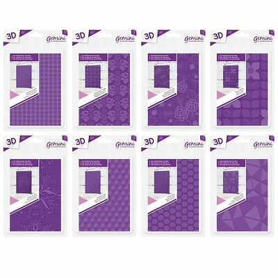 NEW Crafters Companion Gemini - A6 3D Embossing Folders