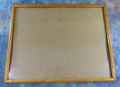 """Vintage Mid Century Faux Bamboo Frame 11 5/8"""" x 14 5/8"""""""