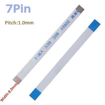 Pitch 1.0mm 7-Pin FFC/FPC Flexible Flat Cable 80C 60V VW-1 W:8mm L:50mm-3000mm