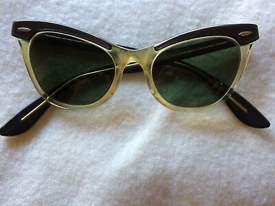 Original Vintage 1940 / 50's Bausch & Lomb Cat Eye Glasses - Made in USA