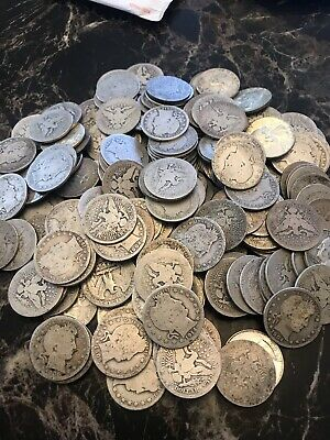$.60 Face Value Of Silver Barber Quarters And Dimes 90% Junk Silver
