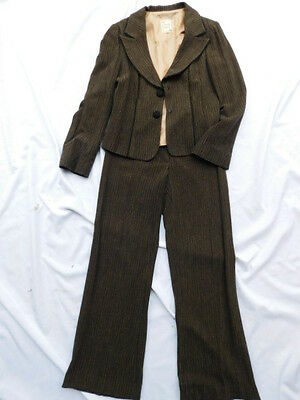 e6c9027d36 NANETTE LEPORE ladies JACKET (top)   PANTS dress SUIT fashion SET BROWN S 6