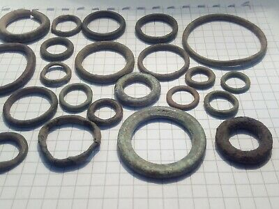 Celtic bronse ring money - proto money. 5th-1st century BC, lot of 28 pieces